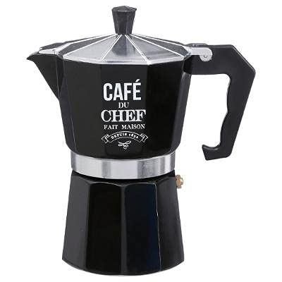 Premium Italienischer Espressokocher für 6 Tassen, Kaffeekocher, Moka/Caffettiera, Espresso, Cafe, Coffee, Herdplatte geeignet, Esspressokaffeemaschine, Italian Coffee Maker/Kocher, Espressokanne