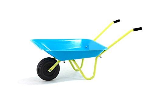 Hörby Bruk Kinderschubkarre (Schubkarre mit Stahlwanne, Gummigriffe, Kunststoffrad; max. 20 kg, 75 x 38 x 28 cm) 1189