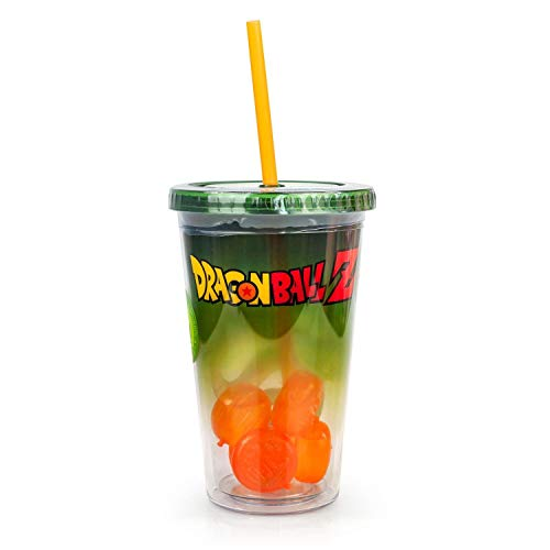 Dragon Ball Z Shenron Carnival Cup with Molded Ice Cubes and Straw | 18 oz