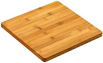 "Simply Bamboo CBV112 Valencia Bamboo Cutting Board for Kitchen | Butcher Block| Chopping Board - 12"" x 12"" x 0.625"""