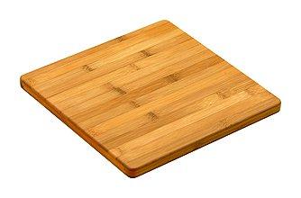 Simply Bamboo CBV112 Valencia - Tabla de cortar de bambú para cocina | bloque de carnicero | tabla de cortar – 12' x 12' x 0.75'