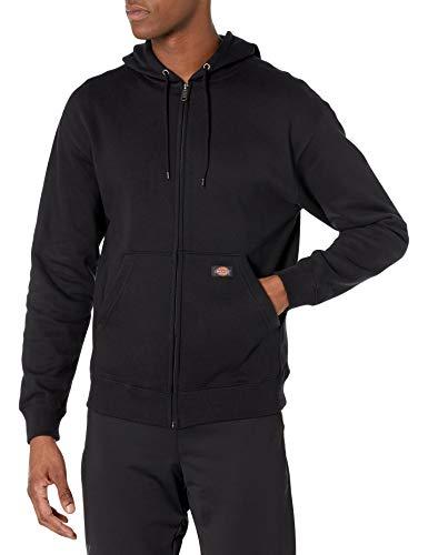 Dickies Men's Full Zip Fleece Hoodie, Black, 2X