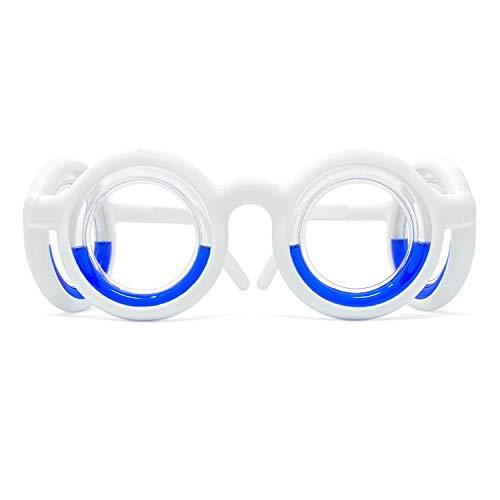 Original Motion Sickness Glasses | Cruise Ship Accessories Anti-Nausea | Foldable Smart Glasses Raised Airsick Lensless Travel Sports Cruise Essentials Anti-Motion Sickness (White)