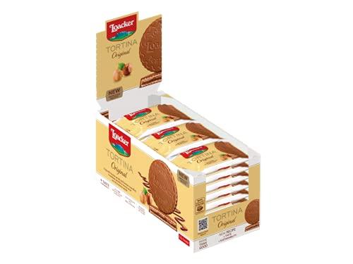 Loacker - Tortine Gran Pasticceria Original - Tortine con Cuore di Crema alla Nocciola e Cialde Wafer, Ricoperte di Cioccolato al Latte - Merenda e Snack - 1 Confezione da 24 Tortine