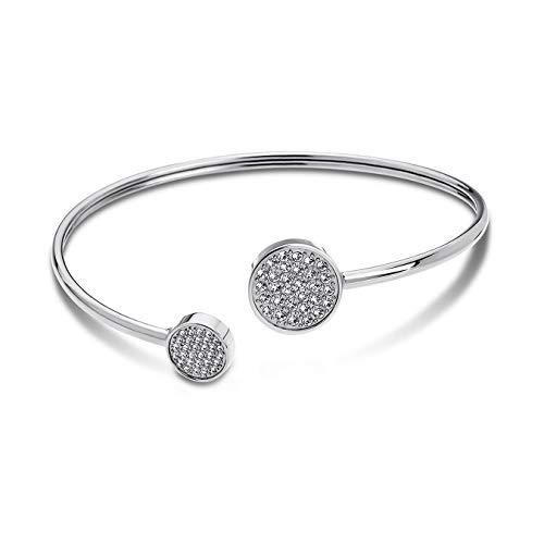 Lotus Style Edelstahl Armband Armreif LS1820-2/1 Damenschmuck Silber D2JLS1820-2-1 EIN schönes Geschenk zu Weihnachten, Geburtstag, Valentinstag für die Frau