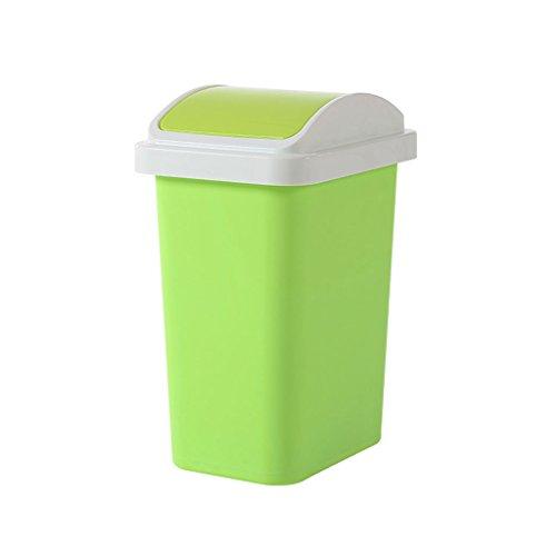 PRIDE Huishoudelijke Plastic Vuilnisbakken Creative Pers Emmer met deksel Afvalbakken Simple Storage Bucket (Color : Green)