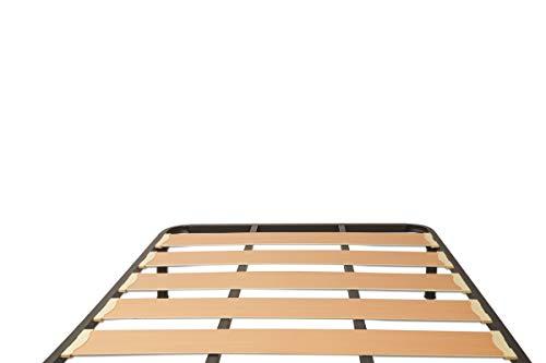 MUEBLIX.COM   Somier Lama Ancha para Cama 135 x 190 cm   Somier con 4 Patas   Láminas Madera de Chopo de 17 cm y Estructura de Tubos de Acero   Útil para Camas Matrimonio