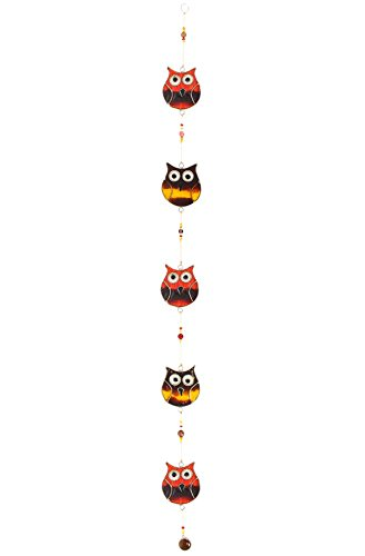 Something Different Wholesale String of 5 Owls (6/12), Multicolour, 75x5.5x0.5 cm