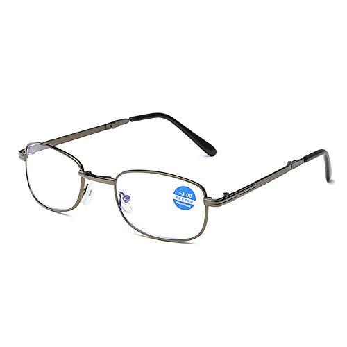 WYBF Portátil Gafas de Lectura Moda Compacto Plegable con Estuche Mini Flip Top para Hombres y Mujeres