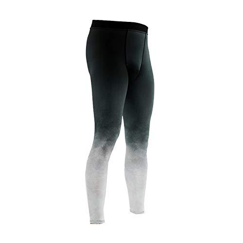 Zarupeng Heren nauwsluitende yoga fitness leggings sneldrogende sport lange broek stretch ademend onderbroek trainingsbroek loopbroek sweatpants