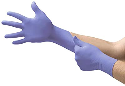 Microflex SU-690 Disposable Nitrile Gloves, Latex-Free, Powder-Free Glove for Cleaning, Mechanics, Automotive, Industrial, or Medical applications, Violet, Size Medium, Case of 1000 Units