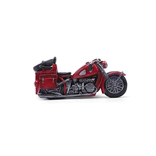 Freestanding Wine Rack Tabletop Wine Rack Single Wine Bottle Holder Three Wheeled Motorcycle Resin Crafts Decoration Wine Stand Countertop Wine Display Rack For Home (Color : Red)