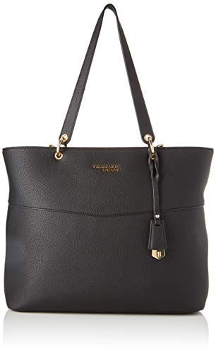 Trussardi Jeans Charlotte Shopper Lg Tumbled E, Borsa a spalla Donna, Nero (Black), 29x12x34 cm (W x H x L)