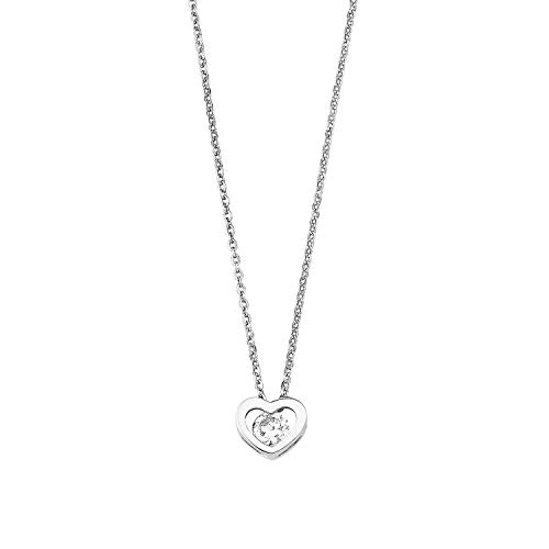 Amor Mujer plata de ley 925 plata blanco circonit
