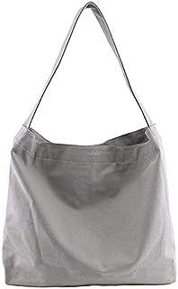 TOOGOO New Literary Simple Messenger Bag Casual Canvas Bag Original Handmade Wild Cloth Bag Korean Version Of The Shoulder Bag Gray