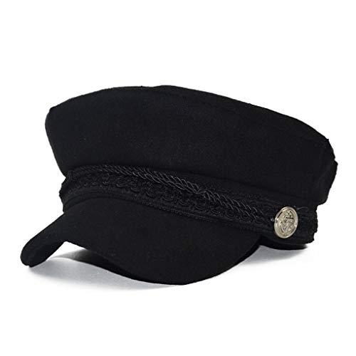 British Style Fashion Newboy Cap für Frauen Runde Baumwolle Quick-Dry Lightweight Retro Military Octagonal Hat