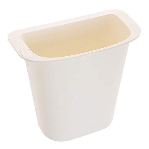 Hängande soptunna i köket Liten sopkärl för handfat för badrum Väggmonterad diskavfallskompostkorg för köksdörr (vit)