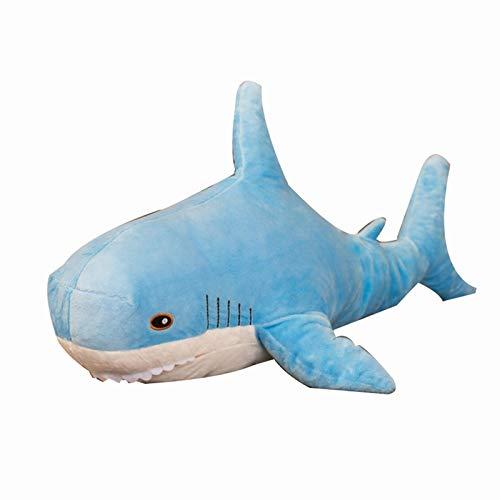 Almohada XYBB Juguetes de tiburón de muñecos de Animales de Peluche Almohada de tiburón Suave Juguetes de Peluche cojín Abrazos Multicolor Regalo para niños Azul Cielo