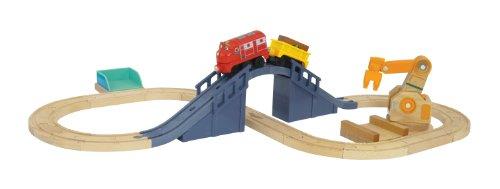 Chuggington LC56715 - Achterschienenset mit Wilson (Holz - Schienenpack)