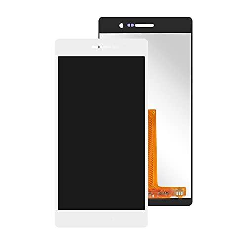 Pantallas LCD para teléfonos móviles 5.0 '' Pantalla LCD P7-L00 P7-L05 P7-L10 Pantalla LCD Pantalla táctil digitalizador/Ajuste para Huawei Ascend P7 LCD MONTONG (Color : White no Frame)