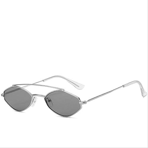 ODNJEMSD Gafas De Sol para Hombre Y Mujer Gafas De Sol Metálicas De Doble Haz De Moda Que Cambian De Color