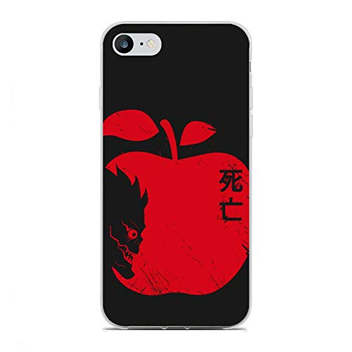 Gersafy Case for Apple iPhone 6/6s, Manga-Death Note Apple Light & L 0 Transparency Slim Clear Soft TPU Gel Flexible Silicone Anti-Shock Coque