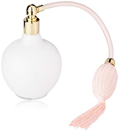 Martinoli Pulvérisateur de parfum en verre de Bohême blanc mat