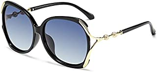 NALANDA Women's Polarized Aviator Sunglasses With UV400 HD Lens Metal PC Frame, Glasses For Outdoor Travel Driving Daily U...