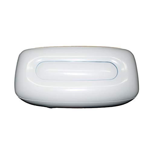 good01 - Spesso cuscino ad aria gonfiabile, per barca e campeggio, con grande valvola, sgonfiabile, pieghevole, PVC, bianco, 56cm x 27cm x 15cm