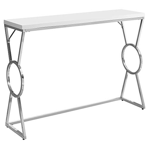 Monarch Specialties Accent, Console Table, White