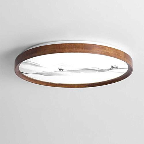 TXDYD. Classica Lampada da soffitto a LED Giapponese Classico Vintage retrò Sospensione apparecchio di Illuminazione in Tessuto Paralume Paralume Montaggio a soffitto Cinese infissi (Color : A)