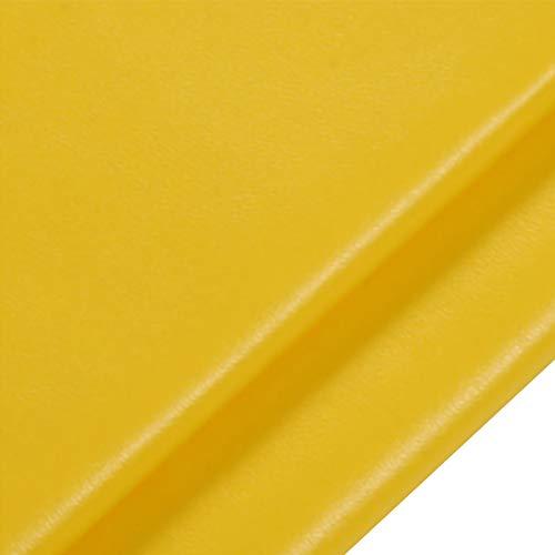 ZXC 138 cm de Ancho Venta De Polipiel por Metros Tejido De Piel SintéTica por Tapizar,Polipiel,Manualidades,Vinilo,Cojines o Forrar Objetos 1m Vendido por Metro(Color:Amarillo)