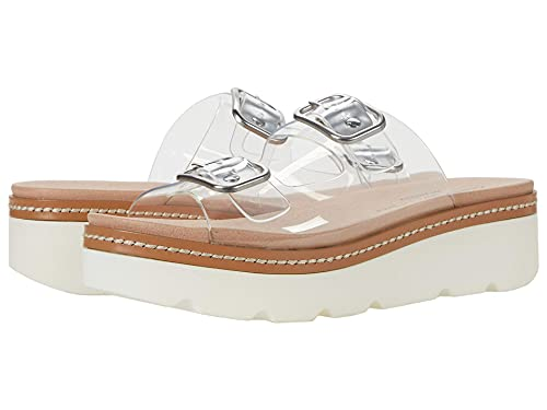 Chinese Laundry Women's Surfs UP Wedge Sandal, Clear, 8
