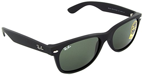 Ray-Ban New Wayfarer RB2132 622 Black Rubber/Crystal Green