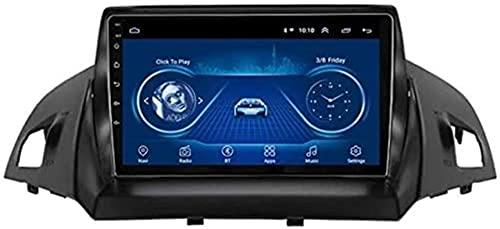 LYHY Estéreo para automóvil Android GPS Sat Nav con Reproductor Multimedia para Ford Kuga Escape C-MAX 2013-2016 Soporte/Bluetooth/USB/AUX/USB/Mirror Link/Volante/Canbus