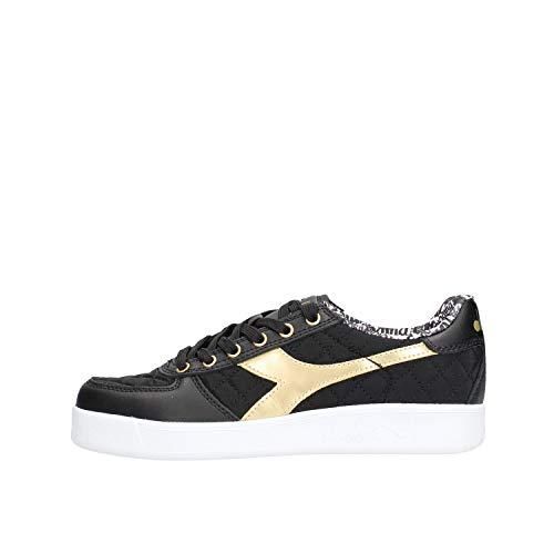 Diadora, Damen, B. Elite Charme Wn, Leder/Nylon, Sneakers, Schwarz, Schwarz - Schwarz - Größe: 38.5 EU