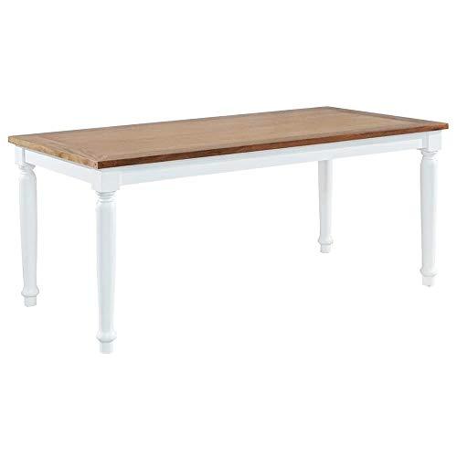 Etnicart - Tavolo da Pranzo Shabby Chic in Legno massello di Mogano Fisso 160x90-160x78x90-LEGNO...