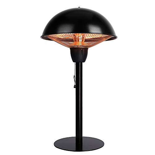 Star Patio Electric Patio Heater, Tabletop Heater, Infrared Heaters, Outdoor Heater, Space Heater, Portable Heater with Hammered Bronze Finished, 1500W, STP1566-BT NEW
