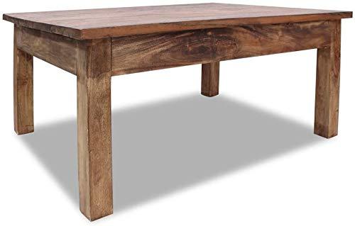 EBTOOLS Esstisch, Beistelltisch für Wohnzimmer, Sofa, rustikal, handgefertigt, Massivholz, recycelt, 98 x 73 x 45 cm