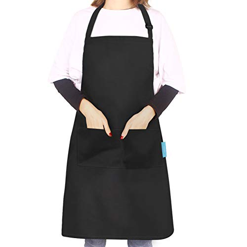 Kitchen Aprons for Women 2 Pocket , Esafio Cotton Cooking Chefs Apron for Men &...
