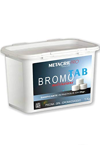 Metacril BROMO MULTIAZIONE Tab 1 kg in tavolette da 20gr - Ideale per Qualsiasi Piscina o Idromassaggio (Teuco,Jacuzzi,Dimhora,Intex,Bestway ECC.) Spedizione IMMEDIATA