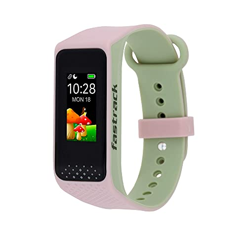 (Renewed) Fastrack reflex 3.0 Uni-sex activity tracker - Full touch, color display, Heart rate monitor, Dual- tone silicone strap and up to 10 days battery life (Pink & Green)