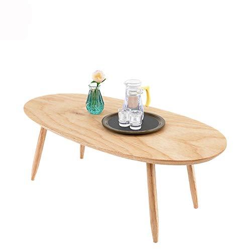 QRFDIAN Tavolino tavolino ovale, 20 x 10 x 7,5 cm, Effetto Legno massiccio Mesas Nido (Color : Wood Color)