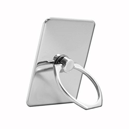 Unbekannt PH26 Ring-Halterung, Farbe Silber, für Haier Voyage V6, aus verchromtem Aluminium, 360 ° drehbar, Elegantes Design, mit 3M Kleber