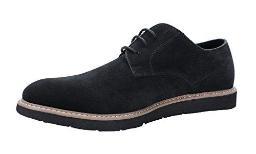 AK collezioni Scarpe uomo casual nero scamosciate invernali polacchine shoes eleganti (41)
