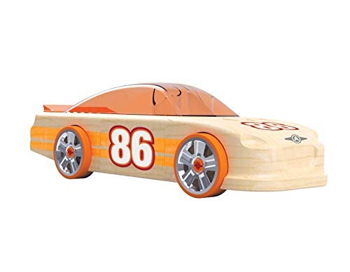 Automoblox Collectible Wood Toy Cars and Trucks—Ultimate RR1 Racer (Compatible with Other Ultimate Series Vehicles) (54107)