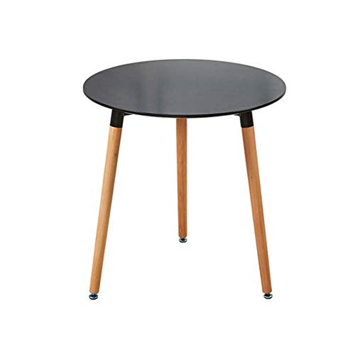 PAKUES-QO Tavolo Piccolo per Uso Domestico, Tavolo da Pranzo Rotondo 60 Cm Piccolo Rotondo con Gambe in Legno di Faggio Tavolin