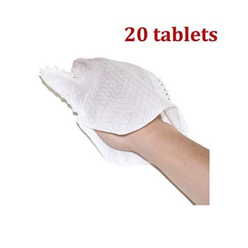 ZRWZZ Gants Non tissé Gants de ménage Gants Dépoussiérage Non Microfibre tissé dépoussiérant Adsorption Papier 20 Pièces