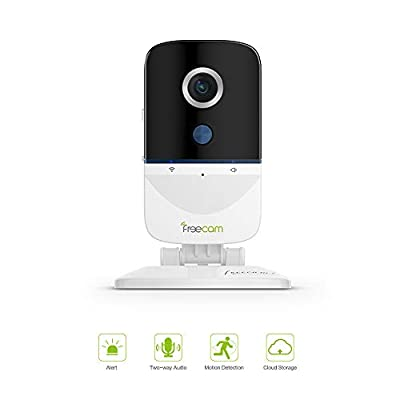 FREECAM 1080P WiFi Camera Indoor Smart Home Security Camera, PIR Motion-Activated, 1080P HD Remote Viewing + Two-Way Talk Siren Alarm, Cloud Storage Available/APP Alarm Push L890S (L890)