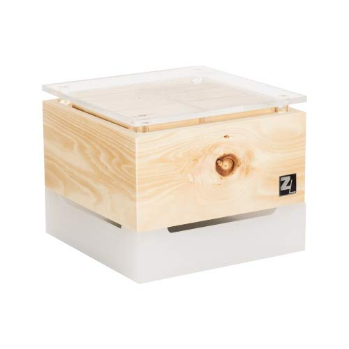 ZirbenLüfter ® Cube Mini cristall für 15 m2, natürlicher Luftbefeuchter und Luftreiniger
